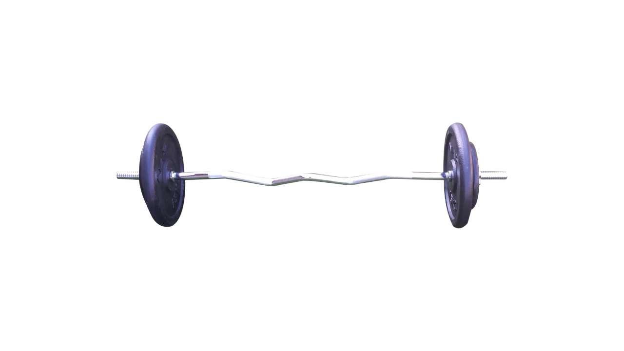 EZ šipka i 40kg (2x15kg i 2x5kg)