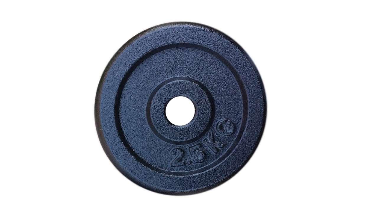 Teg 2.5kg metalni crni 26.50mm