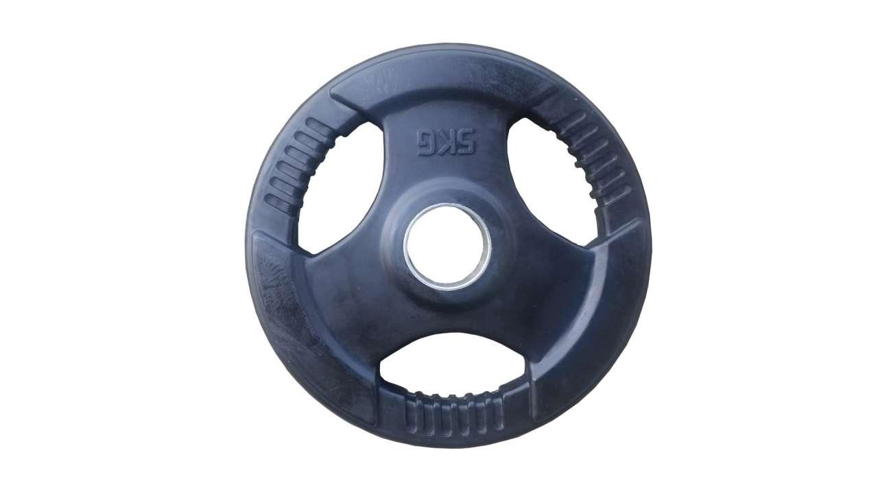 Olimpijski gumirani teg sa prstenom 5kg