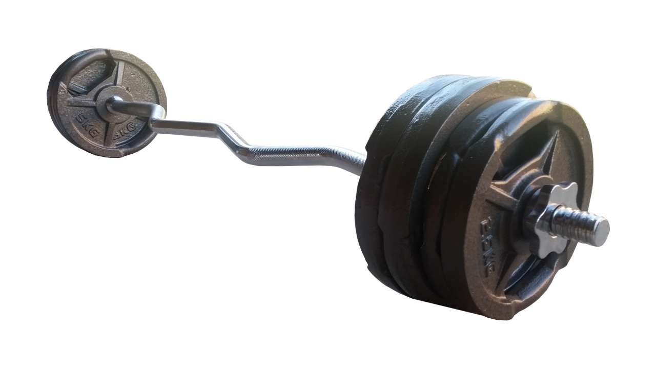 Set EZ šipka i 30kg tegova (4x5kg i 4x2.5kg)