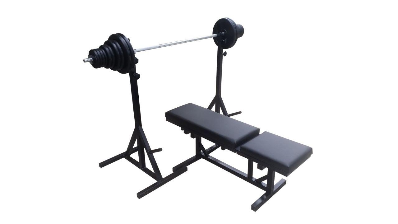 Bench klupa, nosači, 80kg tegova i sve šipke za vježbanje