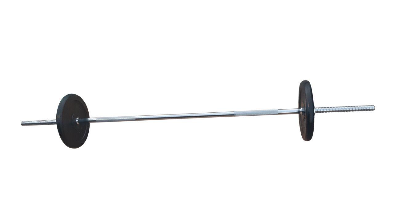 Ravna šipka 168cm i 20kg tegova (2x10kg)