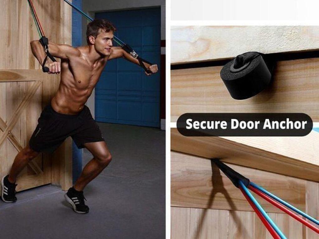 Set 10 rastezljivih traka za vježbanje za ruke i noge