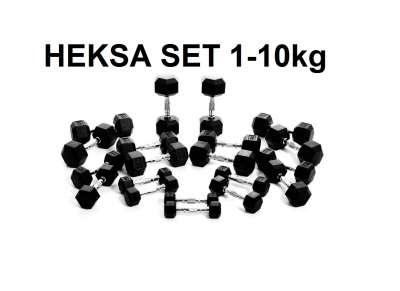 Set hexa bučica 1kg - 10kg u paru